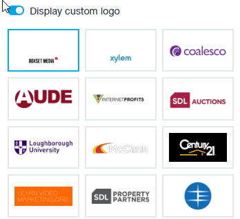 Customise your embed codes with your company logo